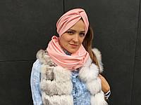 Тюрбан-шапка-повязка розовая