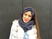 Графитовый серый шарф снуд , фото 1