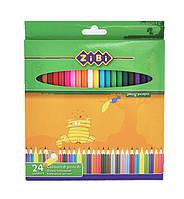 Карандаши цветные 24 цвета Standard, Zibi, ZB.2403, 029722