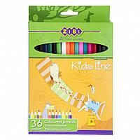 Карандаши цветные 36 цветов Standard, Zibi, ZB.2404, 029739