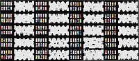 Набор трафаретов 20 шт. для nail art №3