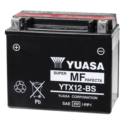 Акумулятор сухозаряженный AGM 10Ah 180A YUASA YTX12-BS