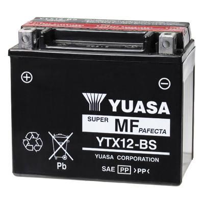 Акумулятор сухозаряженный AGM 10Ah 180A YUASA YTX12-BS, фото 2