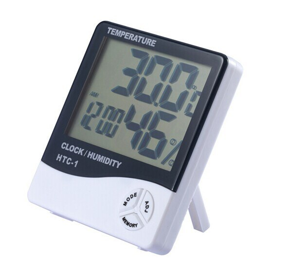 Электронный гигрометр - термометр HTC-1 - Сто грамм в Киеве