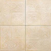 Декор из 4-х плиток Zeus Ceramica Cotto classico Rosone Beige 65х65 (Зеус керамика Кото классико Росон Беж)
