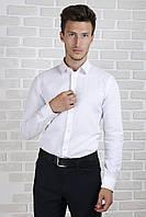 Рубашка белая приталенная, фото 1