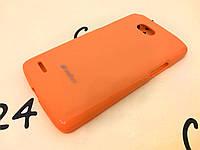 TPU накладка Melkco для LG L80 Dual D380 оранжевый + пленка