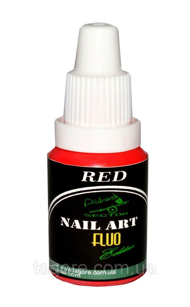 Флуоресцентная краска для ногтей Fluo* Nail-Art* красный