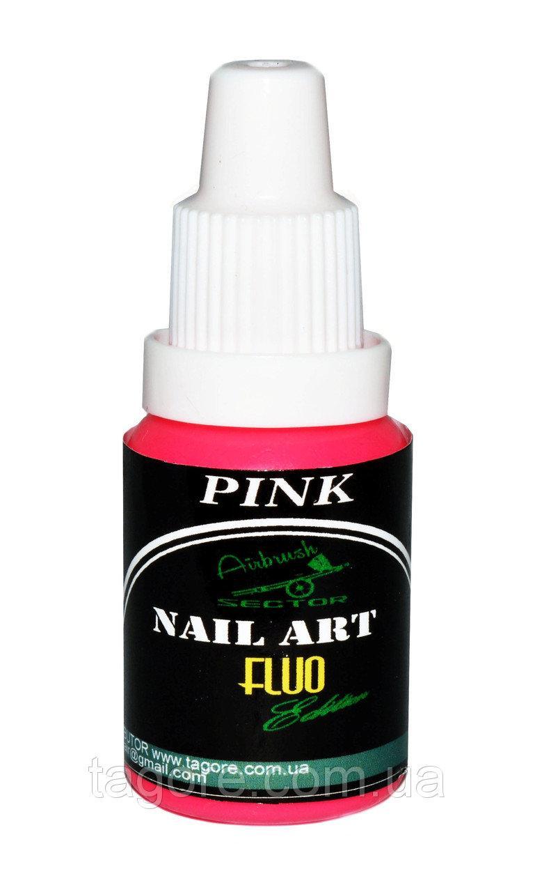 Флуоресцентная краска для ногтей Fluo* Nail-Art* розовый