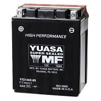 Аккумулятор сухозаряженный AGM 12Ah 210A YUASA YTX14AH-BS