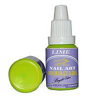 Краска для ногтей POLYURETHANE Bright Edition LIME