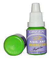 Краска для ногтей POLYURETHANE Bright Edition GREEN