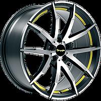 """Диски от Tomason (Томасон) модель TN10 цвет Gunmetal polished Yellow параметры 8,5J x 18"""" PCD 5 x 112 ET 30"""