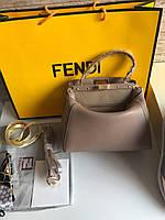 Стильная женская сумка FENDI PEEKABOO коричневая