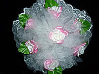 Букет для невесты - дублер кремовый с розовым