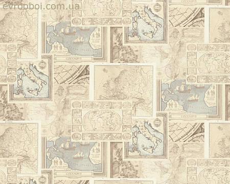 Обои с изображением старинной карты, метровые 958313.
