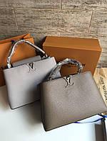 79795929cba1 Женская сумка LOUIS VUITTON CAPUCINES 36 см коричневая (реплика)