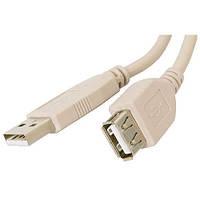 USB удлинитель Atcom USB 2.0 AM/AF 2 ferrite 5м белый, фото 1
