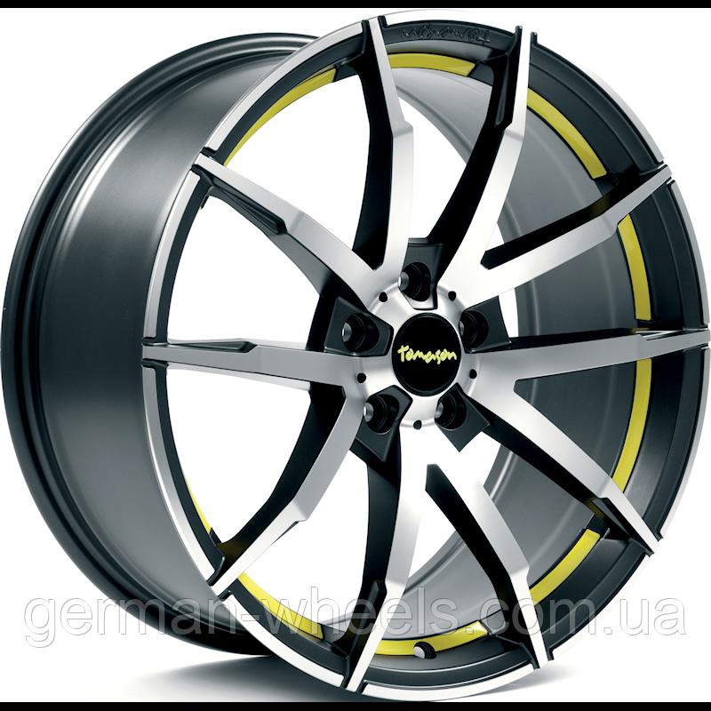 """Диски от Tomason (Томасон) модель TN10 цвет Gunmetal polished Yellow параметры 8,5J x 19"""" PCD 5 x 114,3 ET 40"""