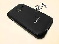 TPU чехол Melkco для Samsung Galaxy Ace Duos S6802 чёрный + пленка