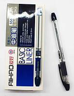Ручка гелевая синя AIHAO Liner basic 12шт/уп