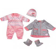 Для детской куклы Annabell платье комплект костюм люксусный для холодных дней zapf 700099_116717