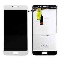 Дисплей (экран) для Meizu M3 Note мейзу версия L681, с тачскрином в сборе, (цвет белый) копия высокого качества