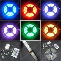 Светодиодная лента 5050 RGB, комплект(лента, блок питания, контроллер, пульт)
