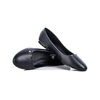Женские черные балетки больших размеров 41 42 43