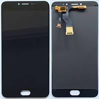 Дисплей (экран) для Meizu M3 Note мейзу версия M681, с тачскрином в сборе, (цвет черный) оригинал