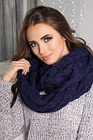 Женский вязаный шарф снуд Лисет в разных цветах