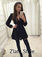 Женское шифоновое платье с длинным рукавом Модель 1007 зр