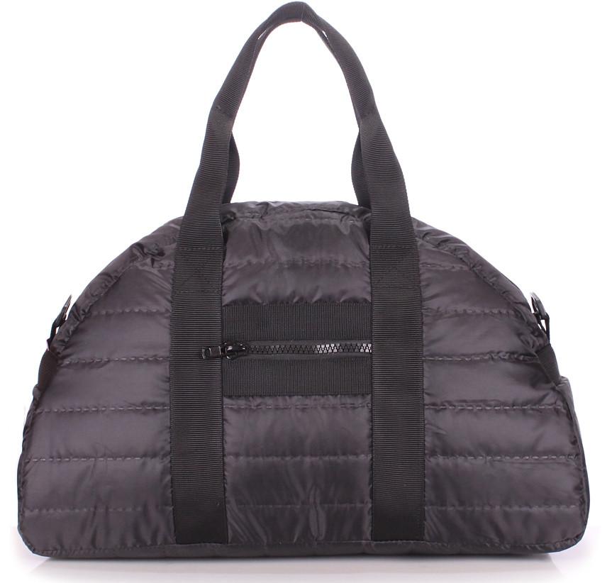 Жіноча сумка POOLPARTY Alaska alaska-stripe-black чорна 19 л