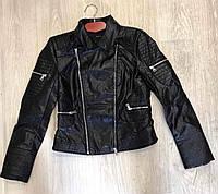 Дизайнерская куртка женская из кожзаменителя