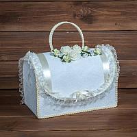Бежевый сундучок для денег на свадьбу (арт. WMB-002)