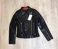 Женская дизайнерская куртка из кожзаменителя