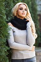 Женский вязаный шарф хомут Андорра в разных цветах