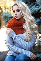 Женский вязаный шарф хомут Орианн в разных цветах