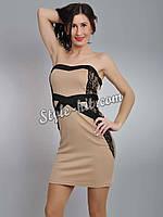 Платье мини трикотажное - 5936