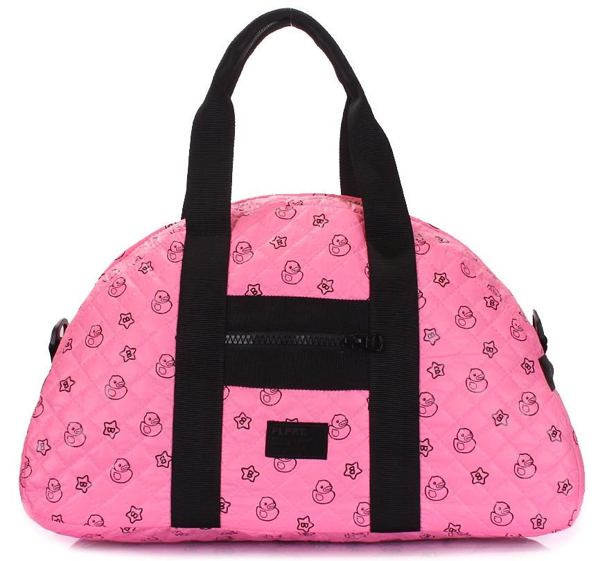 Жіноча сумка POOLPARTY Alaska alaska-ducks-pink рожева 19 л