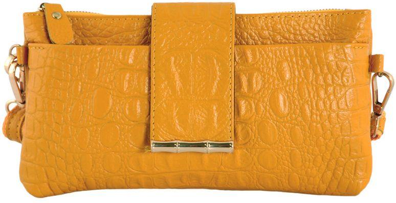 7895995a4e48 Женский кожаный клатч под крокодила Traum 7311-15, желтый — только ...