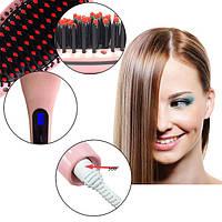 Расческа для выравнивания волос Fast Hair Straightener HQT-906 с дисплеем, плойка
