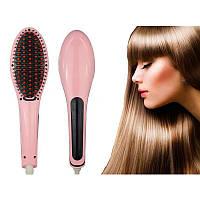 Электрическая расческа-выпрямитель Fast Hair Straightener HQT-906 с Led дисплеем, 60 -230 градусов