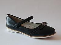 Детские школьные туфли для девочек с кожаной ортопедической стелькой р.32,33,34,35,36,37 очень красивые