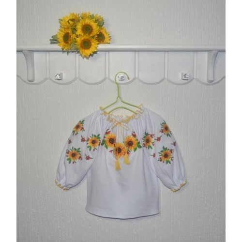 Вышиванка для девочки Соняхи Размер 92 - 110 см