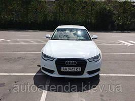 Аренда белой AUDI А6 год выпуска 2013!