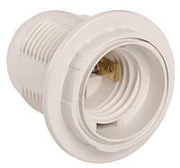 Ппл27-04-К12 Патрон пластик с кольцом, Е27, белый (50 шт), стикер на изделии, IEK