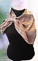 Платок женский шейный в виде галстука