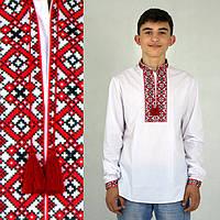 Вышиванка подростковая для мальчика с геометрическим орнаментом