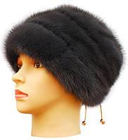 Норковая шапка женская Жасмин  цвет ирис